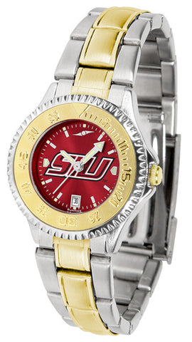 Southern Illinois University Ladies Competitor Two-Tone Watch With Anochrome Dial