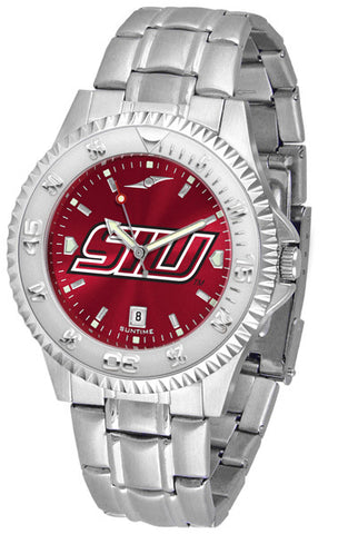 Southern Illinois University Men's Competitor Steel Watch With AnoChome Dial