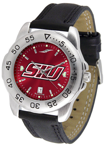 Southern Illinois University Men Sport Watch With Leather Band & AnoChrome Dial
