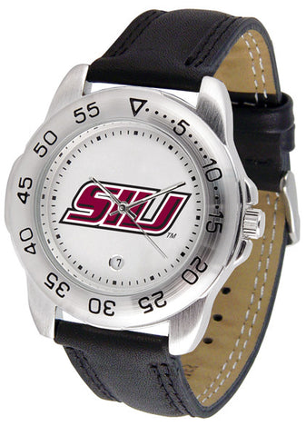 Southern Illinois University Men Sport Watch With Leather Band