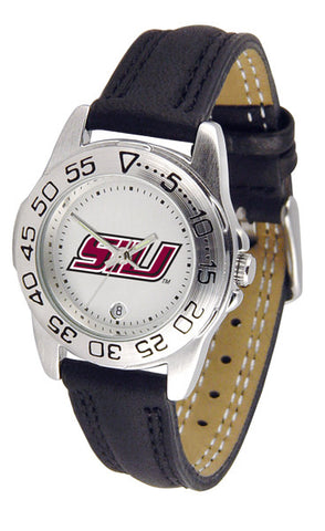 Southern Illinois University Ladies Sport Watch With Leather Band
