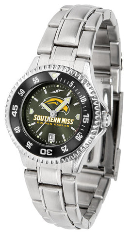 Ladies Southern Mississippi Eagles - Competitor Steel AnoChrome Watch - Color Bezel