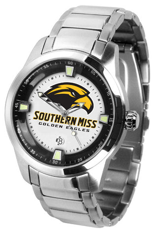 Mens Southern Mississippi Eagles - Titan Steel Watch