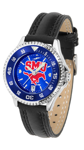 Ladies Southern Methodist University Mustangs - Competitor AnoChrome Watch - Color Bezel