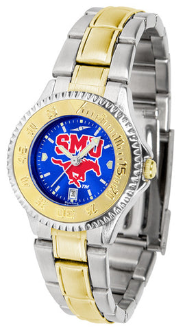 Ladies Southern Methodist University Mustangs - Competitor Two Tone AnoChrome Watch