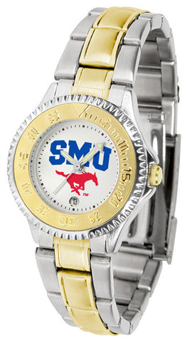 Ladies Southern Methodist University Mustangs - Competitor Two Tone Watch