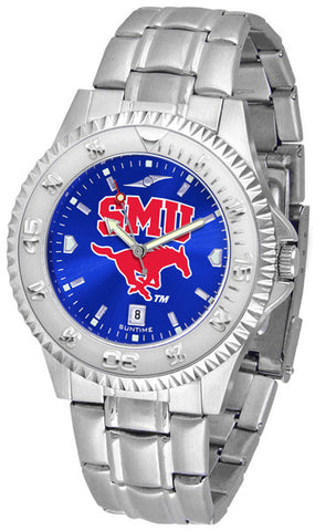 Mens Southern Methodist University Mustangs - Competitor Steel AnoChrome Watch