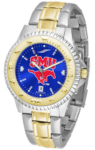 Mens Southern Methodist University Mustangs - Competitor Two Tone AnoChrome Watch