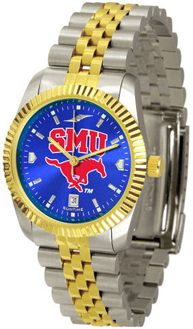 Mens Southern Methodist University Mustangs - Executive AnoChrome Watch