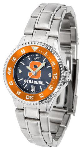 Ladies Syracuse Orange - Competitor Steel AnoChrome Watch - Color Bezel