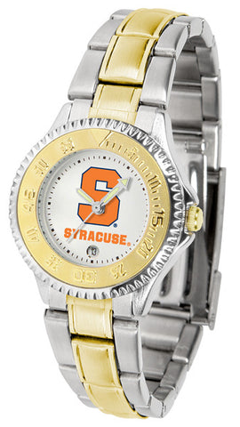 Ladies Syracuse Orange - Competitor Two Tone Watch