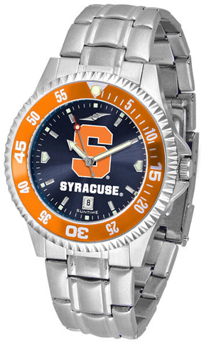 Mens Syracuse Orange - Competitor Steel AnoChrome Watch - Color Bezel
