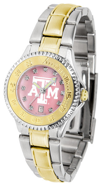 Texas A&M Aggies Ladies Competitor Two-Tone Watch With Mother Of Pearl Dial