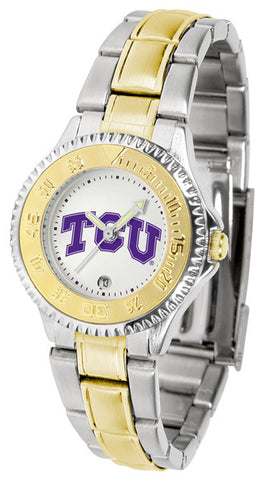 Texas Christian Horned Frogs Ladies Competitor Two-Tone Watch