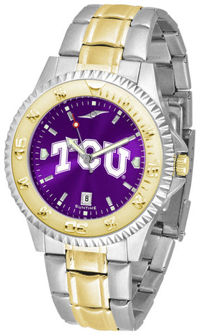 Texas Christian Horned Frogs Mens Competitor Two-Tone Watch With Anochrome Dial