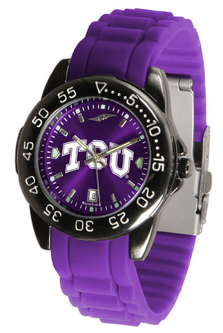 Texas Christian Horned Frogs Fantom Sport AC Watch With Color Band