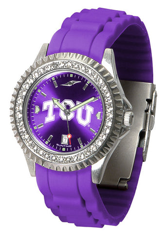 Texas Christian Horned Frogs Sparkle Watch With Color Band
