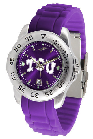 Texas Christian Horned Frogs Sport AnoChrome Watch With Color Band