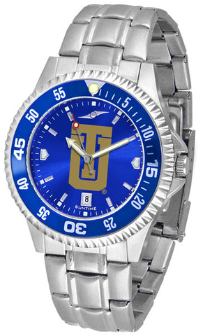 Mens Tulsa Golden Hurricane - Competitor Steel AnoChrome Watch - Color Bezel