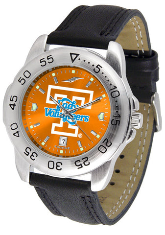 Tennessee Lady Volunteers Men Sport Watch With Leather Band & AnoChrome Dial