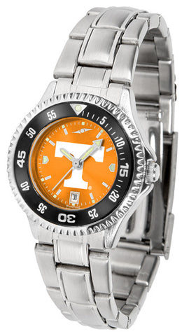 Tennessee Volunteers Ladies Competitor Steel Watch With AnoChome Dial, Color Bezel