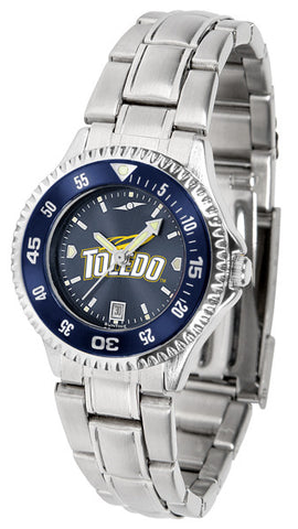 Ladies Toledo Rockets - Competitor Steel AnoChrome Watch - Color Bezel
