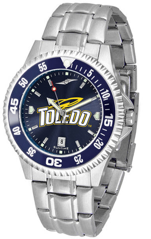 Mens Toledo Rockets - Competitor Steel AnoChrome Watch - Color Bezel