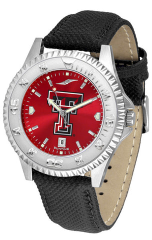 Texas Tech Red Raiders Men  Competitor Watch With AnoChome Dial
