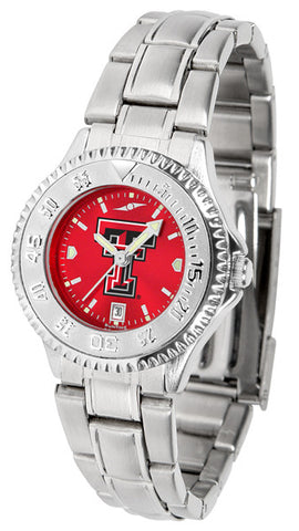 Texas Tech Red Raiders Ladies Competitor Steel Watch With AnoChome Dial
