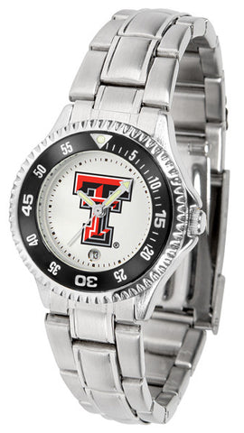 Texas Tech Red Raiders Competitor Steel Ladies Watch