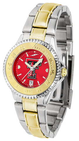 Texas Tech Red Raiders Ladies Competitor Two-Tone Watch With Anochrome Dial