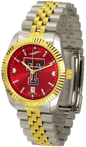 Texas Tech Red Raiders Men's Executive Watch With AnoChrome Dial