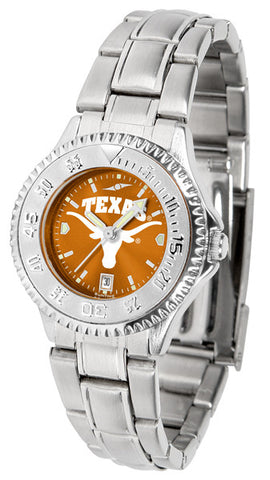 Texas Longhorns Ladies Competitor Steel Watch With AnoChome Dial