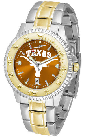 Texas Longhorns Men's Competitor Two-Tone Watch With Anochrome Dial