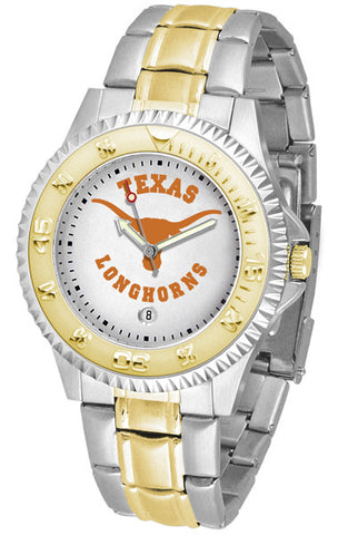 Texas Longhorns Men's Competitor Two-Tone Watch