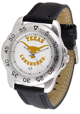 Texas Longhorns Men Sport Watch With Leather Band