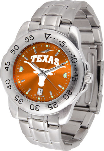 Texas Longhorns Men Sport Steel Watch With AnoChrome Dial
