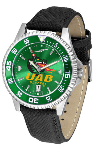 Alabama - UAB Blazers Men Competitor Watch With AnoChome Dial, Color Bezel