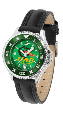 Alabama - UAB Blazers Ladies Competitor Watch With AnoChome Dial, Color Bezel