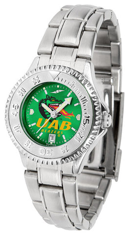 Alabama - UAB Blazers Ladies Competitor Steel Watch With AnoChome Dial