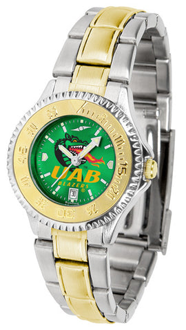 Alabama - UAB Blazers Ladies Competitor Two-Tone Watch With Anochrome Dial