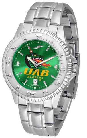 Alabama - UAB Blazers Men's Competitor Steel Watch With AnoChome Dial