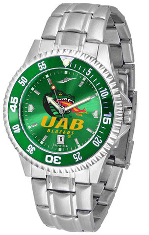 Alabama - UAB Blazers Men Competitor Steel Watch With AnoChome Dial, Color Bezel