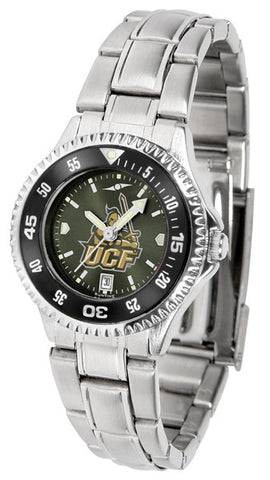 Central Florida Knights Ladies Competitor Steel Watch With AnoChome Dial, Color Bezel