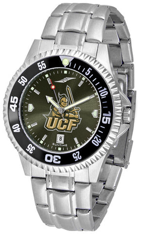 Central Florida Knights Men Competitor Steel Watch With AnoChome Dial, Color Bezel