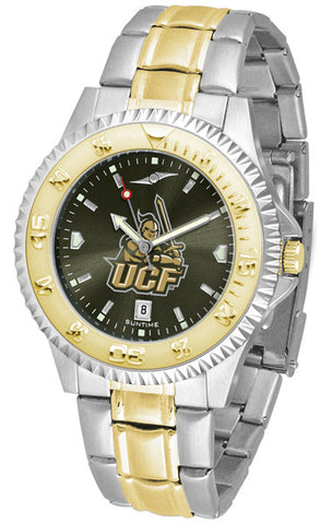 Central Florida Knights Mens Competitor Two-Tone Watch With Anochrome Dial