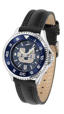 Ladies Utah State University Aggies - Competitor AnoChrome Watch - Color Bezel