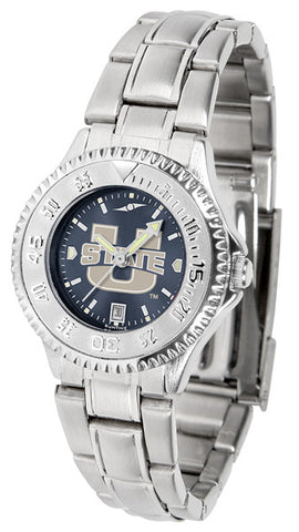 Ladies Utah State University Aggies - Competitor Steel AnoChrome Watch