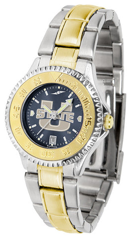 Ladies Utah State University Aggies - Competitor Two Tone AnoChrome Watch