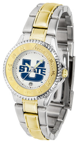 Ladies Utah State University Aggies - Competitor Two Tone Watch